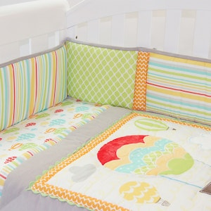Babyhood Amani Bebe 4pce Cot Set - Up In The Sky