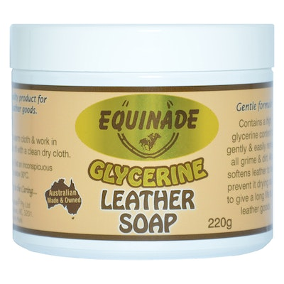 Equinade Glycerine Leather Saddle Harness Boots Cleaner Soap 220g