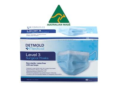Detmold Medical Australian Made Level 3 Surgical Mask - Inner box of 40