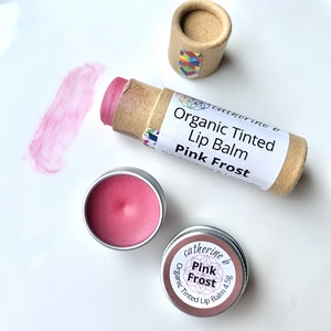 Catherine B Pink Frost - Tinted Organic Lip Balm