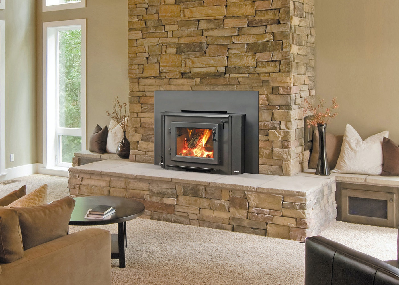 Heatilator Ecochoice Heatilator Eco Choice Wins18 Slow Combustion Wood Burning Fireplace Insert