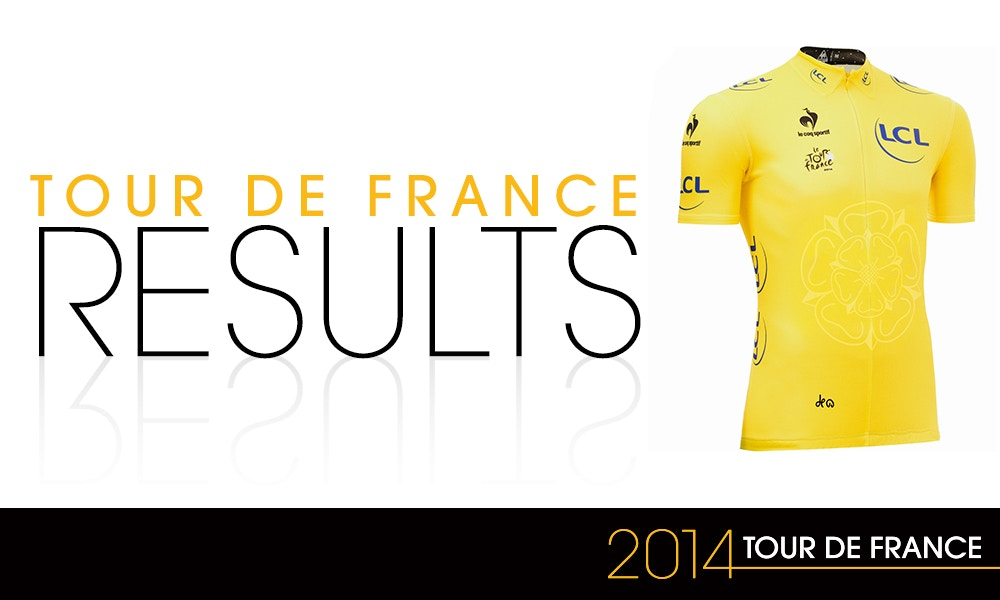2014 Tour de France Results Overview