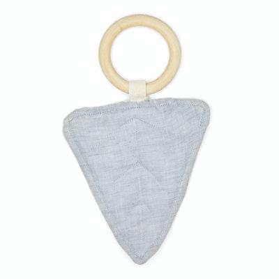 Global Sisters Shop Caine Leaf Teething Ring - Grey