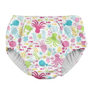 i play. Snap Reusable Absorbent Swimsuit Diaper-White Sea Pals