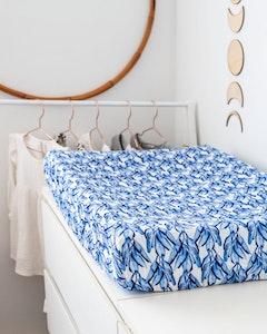 Designer Bums Blue Tropics Change Pad Cover