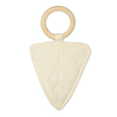Global Sisters Shop Caine Leaf Teething Ring - Natural