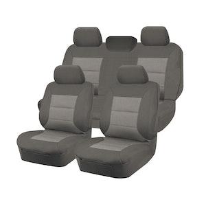 Premium Car Seat Covers For Volkswagon Amarok 2H Series 2011-2020 4X4 Dual Cab   Grey