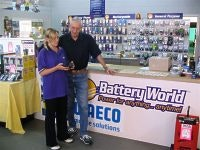 Customer receives advice from Michelle at Battery World Salisbury Plains SA