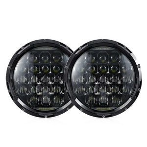 LIGHTFOX 2x 7inch LED Headlights Insert Hi-Lo Beam DRL for Jeep Wrangler Patrol GQ