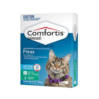 Comfortis Green Flea Tablets 5.5-11.2kg Cat 3 Pack