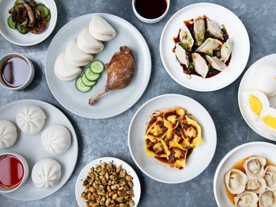 Supernormal Spring Dumpling, Buns & Bao Banquet with Beer + Wine. Serves 2, $90 per person.
