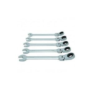 5 Piece Ratchet Combination Wrench Set