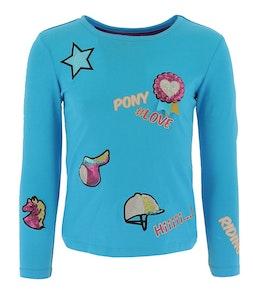 "Equi-Kids Equi Kids""Ponylove"" T Shirt With Badges Girls"