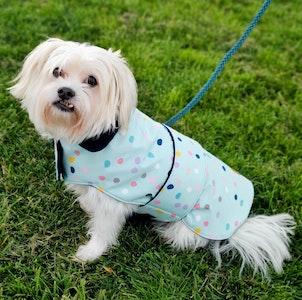Queenie's Pawprints Warm Weatherproof Dog Coat - Skittles