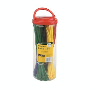 Tridon Cable Tie Assorted Pack 4.8mm (w) x 300mm (l) - Assorted Colours - 300pk