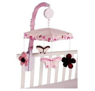 Babyhood Amani Bebe Cot Mobile Raspberry Garden