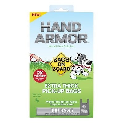 Bags On Board Hand Armor Extra Thick Pick-Up Bags - 100 Bags