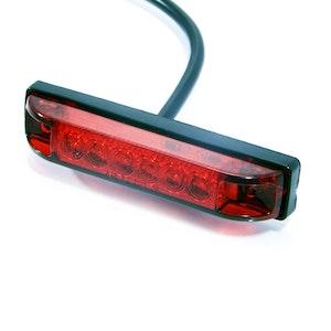 Flush Mount LED Tail Stop Light - Red lens