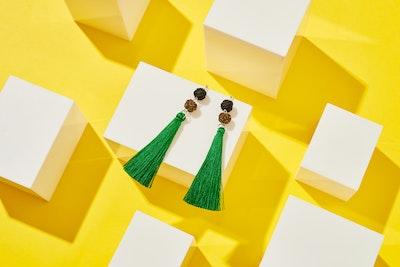 Global Sisters Shop Takara Tassel Earrings - Emerald