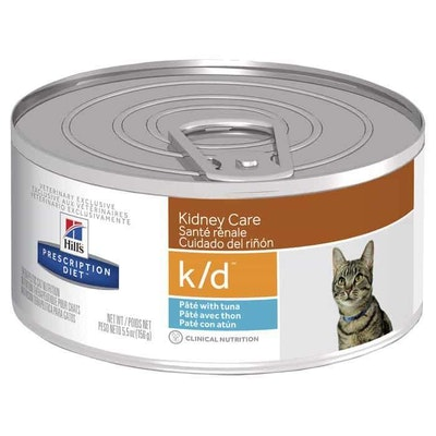 Hill's VET Hill's Prescription Diet K/D Kidney Care Tuna Wet Cat Food 156G