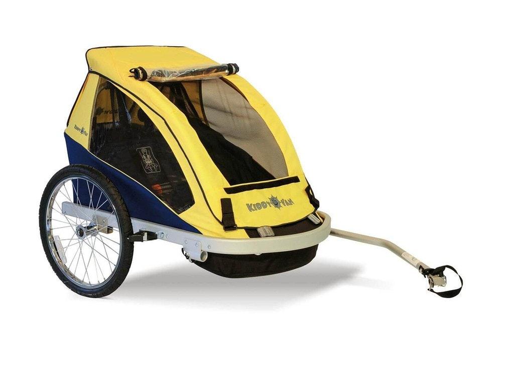 croozer kiddy van kv2 trailer double yellow bike. Black Bedroom Furniture Sets. Home Design Ideas