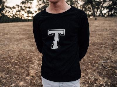 Personalised Varsity Sweater - Black