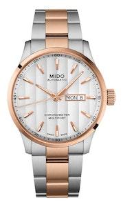 Mido Multifort Chronometer - Stainless Steel with Rose Gold PVD - Stainless Steel with Rose Gold PVD Strap