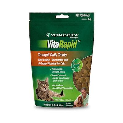 Vetalogica Vitarapid Tranquil Daily Cat Tasty Treats Chicken & Duck Meat 100g
