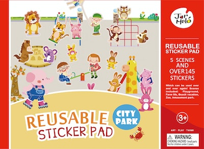 JarMelo REUSABLE STICKER PAD SET - CITY PARK