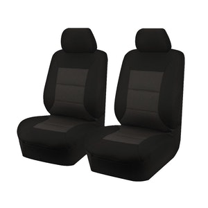 Premium Car Seat Covers For Mitsubishi Triton Mq-Mr Series 2015-2020 Single Cab | Black