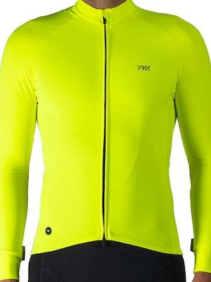 Pedal Mafia Mens Pro Thermal Jacket - Neon