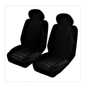 Universal Comfort Plus Front Seat Covers Size 30/35 | Black