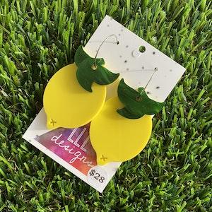 Luscious Lemon Hoop Dangle Earrings - Fabulous and Fruity!