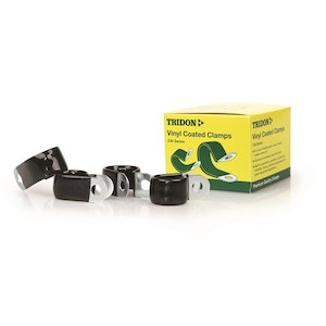 Tridon Vinyl Coated Hose & Cable Clamp 10mm Dia 15mm Band 6.3mm Hole 10pk