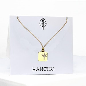 New Small Square Seedling Pendant Necklace