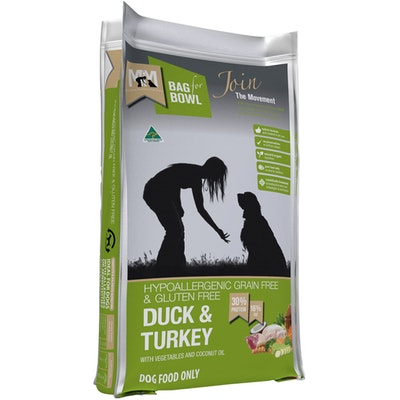 MEALS FOR MUTTS MFM Grain Free & Gluten Free Duck & Turkey Dog Food - 3 Sizes