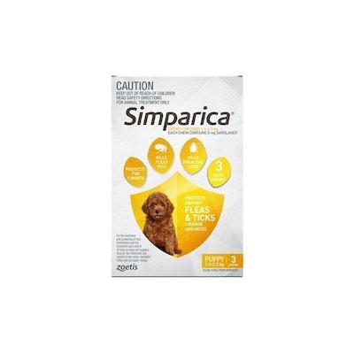 SIMPARICA 1.3kg To 2.5kg 3 Chews