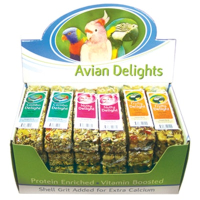 PASSWELL Budgie Canary Fruity Nutty Combo Avian Delights Treats 75g 24 Pack