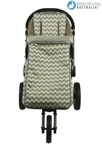 Keep Me Cosy™ 2 in 1 Toddler Footmuff Set - Grey Chevron
