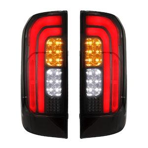 LIGHTFOX LED Tail Rear Lamp Lights Smoked for Nissan Navara NP300 D23 2015-2019
