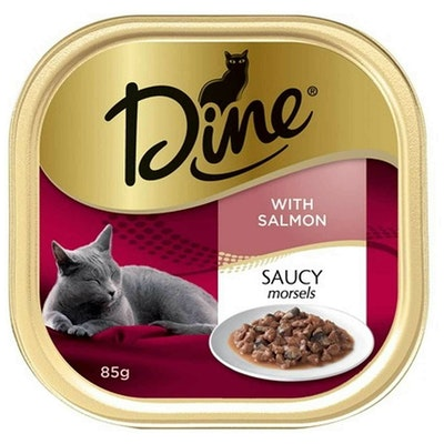 Dine Saucy Morsels with Salmon Cat Food 7 x 85g
