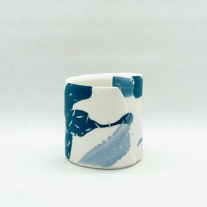 Painterly Vessel, Forest / Blues, Small