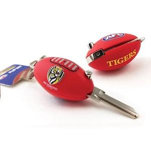 Creative Keys AFL Footy Flip Key Blank with Keyring LW4 - Richmond Tigers