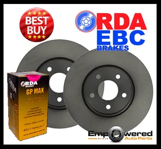 FRONT DISC BRAKE ROTORS + PADS for Nissan Pulsar B17 1.8L 96Kw 11/2012-5/2018