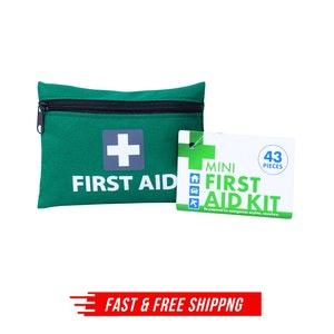 4x 43pcs MINI FIRST AID KIT Emergency First Aid Kit Medical Travel Set Pocket Family Safety AU