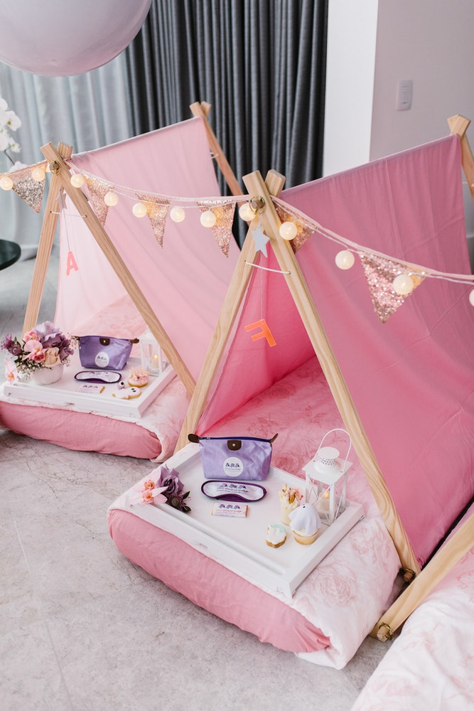 Pink Princess Kids Slumber Party