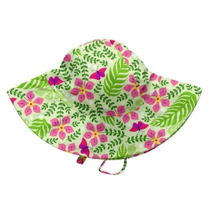 i play. Tropical Brim Sun Protection Hat-Lime Palm Garden