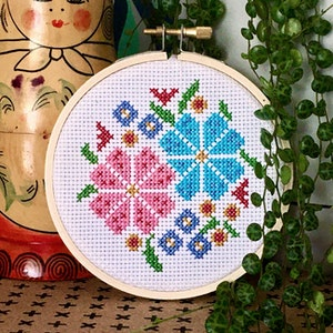 Flower Posy Cross Stitch Kit