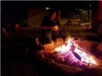 Enjoy real camp fire cooking at Dalrymple Tourist Van Park
