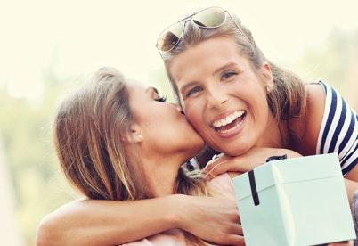 image of  women hugging
